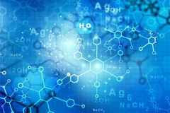 Abstract Molecules. Science and technology background stock illustration