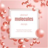 Abstract molecules background. Abstract molecules background design. Vector atom illustration Royalty Free Stock Images