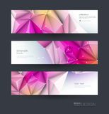 Abstract Molecules banner set. Modern science, chemistry technology concept for website, business, web banner, template or brochu. Abstract Molecules banner set royalty free illustration