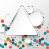 Abstract  molecules and communication - social media technology concept Stock Image