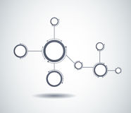 Abstract molecules and communication technology Royalty Free Stock Photo