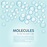 Abstract molecules design, gloss blue particles Royalty Free Stock Photo
