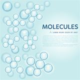 Abstract molecules design, gloss blue particles. Abstract gloss blue molecules design. EPS 10 vector illustration. Atoms. Medical background for banner or flyer vector illustration