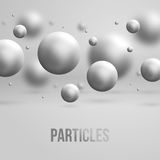 Abstract molecules design. Vector illustration. Royalty Free Stock Photography