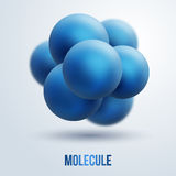 Abstract molecules design. Royalty Free Stock Images