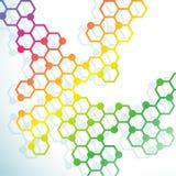 Abstract molecules en atomenontwerp voor achtergrond Vectorillus royalty-vrije illustratie