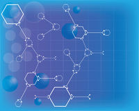 Abstract molecules medical background. Royalty Free Stock Photos