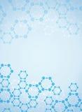 Abstract molecules medical background Stock Photos