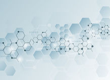 Abstract molecules medical background Stock Photography