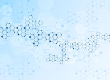 Abstract molecules medical background Stock Image