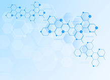 Abstract molecules medical background Royalty Free Stock Image