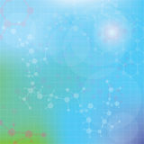 Abstract molecules medical background (Vector). Royalty Free Stock Photo