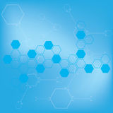 Abstract molecules medical background . Royalty Free Stock Image