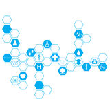Abstract molecules medical background Royalty Free Stock Photo