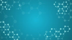 Abstract molecules medical looped animated background