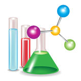 Abstract molecules and substances Royalty Free Stock Image