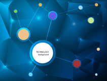 Abstract Molecules technology background Royalty Free Stock Photo