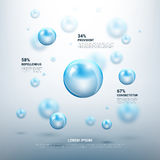 Abstract molecules vector background Royalty Free Stock Photography