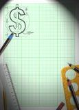 Money draw background Royalty Free Stock Photo