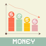 Abstract Money Graph Illustration Stock Photo
