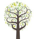 Abstract money tree. Vector illustration Royalty Free Stock Photography