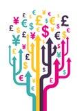 Abstract money tree. Vector illustration royalty free illustration