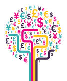 Abstract money tree Royalty Free Stock Photo