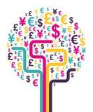 Abstract money tree. Vector illustration Royalty Free Stock Photo