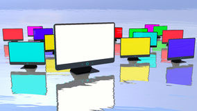Abstract monitors Royalty Free Stock Images