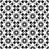 Abstract monochome endless specular texture. Vector monochrome seamless pattern. Abstract ornamental texture, repeat geometric tiles. Black & white endless Royalty Free Stock Photography