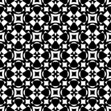 Abstract monochome endless specular texture. Vector monochrome seamless pattern. Abstract ornamental texture, repeat geometric tiles. Black & white endless Royalty Free Stock Photo