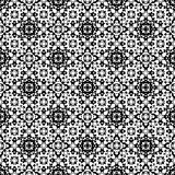 Abstract monochome endless specular texture. Vector seamless pattern. Abstract ornamental black & white texture, repeat geometric tiles. Endless specular Royalty Free Stock Image