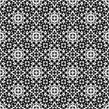 Abstract monochome endless specular texture. Vector seamless pattern. Abstract ornamental black & white texture, repeat geometric tiles. Endless specular Royalty Free Stock Photos