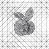 Abstract monochrome apple Stock Images