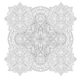 Abstract monochrome art for coloring book page stock illustration