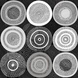 Abstract monochrome  background with circles. Vector seamless pa Stock Photography