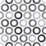 Abstract monochrome circle seamless texture Royalty Free Stock Photos
