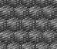Abstract monochrome 3D cubes pattern. Abstract monochrome 3D cubes halftone wallpaper pattern vector illustration