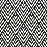 Abstract monochrome diamond textile background - vector seamless Royalty Free Stock Image