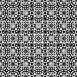 Abstract monochrome endless specular texture. Vector monochrome seamless pattern. Abstract ornamental texture, repeat geometric tiles. Black & white endless Stock Photo