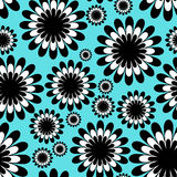 Abstract monochrome floral seamless pattern Royalty Free Stock Photography