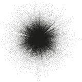 Abstract monochrome halftone blast. EPS 10. Random halftone, pointillism pattern. Irregular dots abstract monochrome halftone. EPS 10 vector file included stock illustration