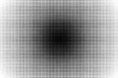 Abstract monochrome halftone pattern. Comic background. Dotted backdrop with circles, dots, point. Design element for web banners, posters, cards, wallpapers Royalty Free Stock Photo