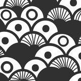 Abstract monochrome hand drawn doodle pattern. Design element for background, wrapping paper, paper packaging and other. Vector illustration Royalty Free Stock Images