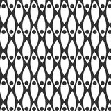 Abstract monochrome hand drawn doodle pattern. Design element for background, wrapping paper, paper packaging and other. Vector illustration Royalty Free Stock Photos