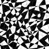 Abstract monochrome mosaic pattern with triangles. Seamless vector. Stock Image
