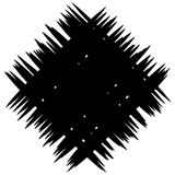Abstract monochrome patch with random and irregular lines Stock Photo