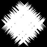 Abstract monochrome patch with random and irregular lines Stock Image