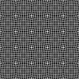 Abstract monochrome pattern with mosaic of distorted squares of Stock Image