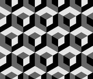 Abstract monochrome pattern with overlapping squares. Seamless 3 Royalty Free Stock Photography